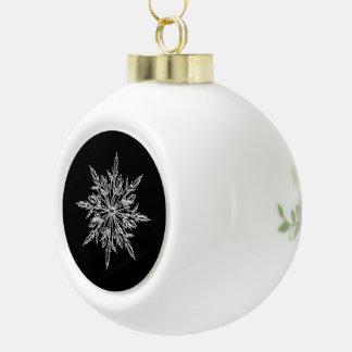 Ornement en céramique de boule de flocon de neige