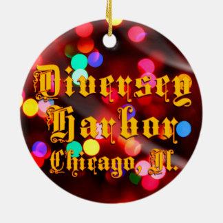 Ornement en céramique de Chicago de port de