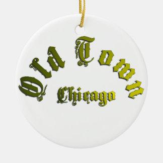 Ornement en céramique de Chicago de vieille ville