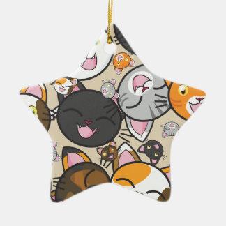 Ornement en céramique de Kawaii Kitty (formes