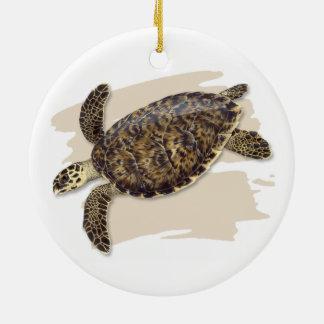 Ornement en céramique de tortue de mer de