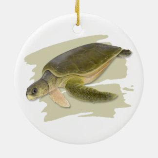 Ornement en céramique de tortue de mer de Faltback