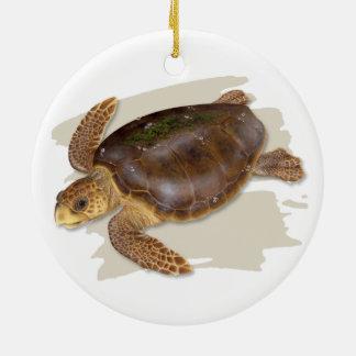 Ornement en céramique de tortue de mer d'imbécile