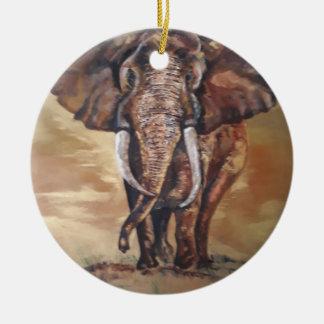 Ornement en céramique d'éléphant