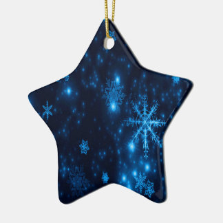 Ornement en céramique d'étoile de flocons de neige