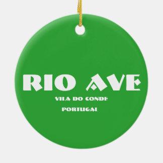 Ornement en céramique ovale d'avenue de Rio