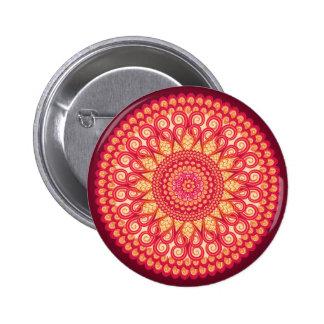 Ornement ethnique tribal rond décoratif badge rond 5 cm