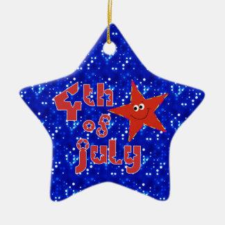 Ornement Étoile En Céramique 4 juillet étoile de souvenir