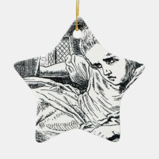 Ornement Étoile En Céramique A ; glace fourrée dans une Chambre