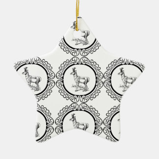 Ornement Étoile En Céramique Abondance de Pronghorn