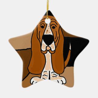 Ornement Étoile En Céramique Abrégé sur adorable art de chien de Basset Hound