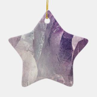 Ornement Étoile En Céramique Abrégé sur en cristal noyau