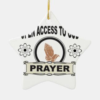 Ornement Étoile En Céramique accès ouvert à un dieu