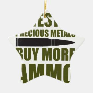 Ornement Étoile En Céramique Achetez plus de munitions, les investissez en