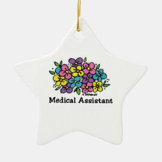 Ornement Étoile En Céramique Aide médical Blooms1