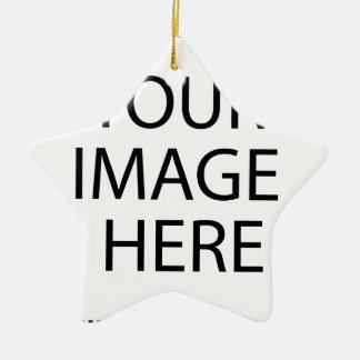 Ornement Étoile En Céramique Ajoutez le logo des textes d'image ici font votre