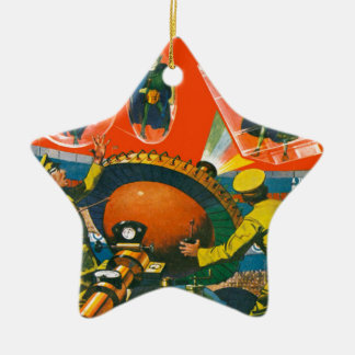 Ornement Étoile En Céramique Aliens observés par insecte dans les caps