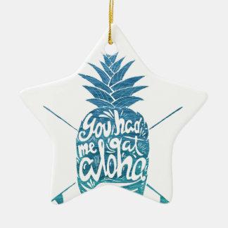Ornement Étoile En Céramique Aloha planches de surf d'ananas