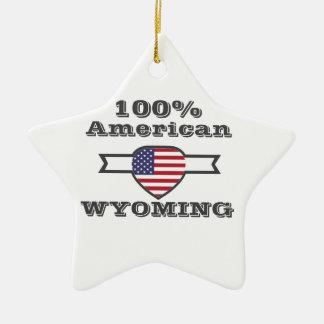 Ornement Étoile En Céramique Américain de 100%, Wyoming