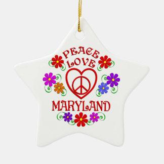 Ornement Étoile En Céramique Amour le Maryland de paix