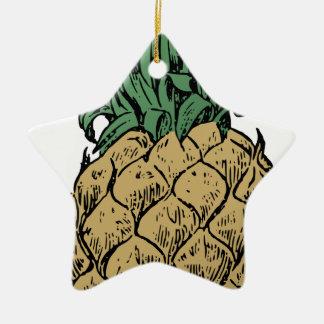 Ornement Étoile En Céramique Ananas