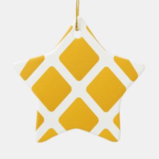Ornement Étoile En Céramique ananas, fruit, logo, nourriture, tropicale,