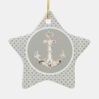Ornement Étoile En Céramique Ancre côtière de très bon goût de motif