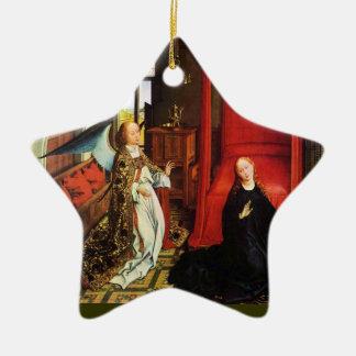 Ornement Étoile En Céramique ANGE Arkhangel Gabriel, étoile d'ANNONCE de Vierge