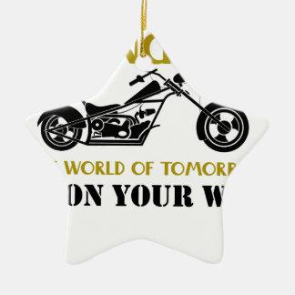 Ornement Étoile En Céramique Ange de moto