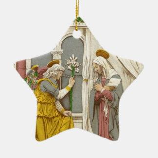 Ornement Étoile En Céramique Ange Gabriel l'annonce à Mary
