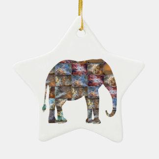 Ornement Étoile En Céramique Animal amical majestueux : Tuiles de marbre