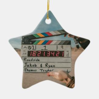 Ornement Étoile En Céramique Appareil-photo de cinéma de film
