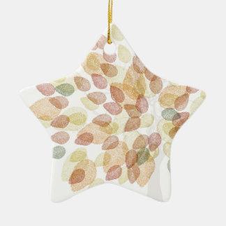 Ornement Étoile En Céramique Arbre de bouleau dans des couleurs d'automne