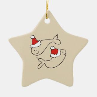 Ornement Étoile En Céramique Astrologie mignonne d'étoile rouge drôle de Noël