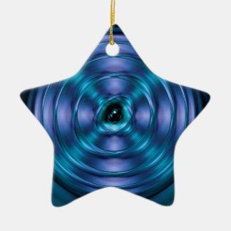 Ornement Étoile En Céramique Atome de rotation bleu