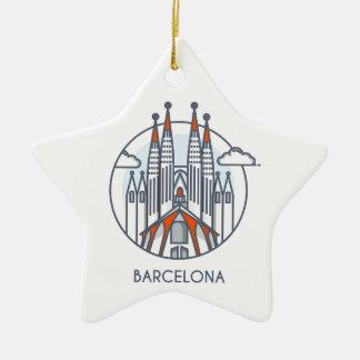 Ornement Étoile En Céramique Barcelone