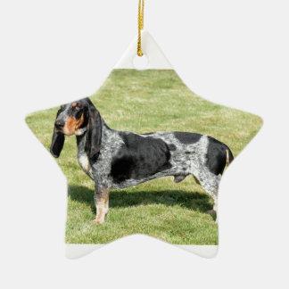 Ornement Étoile En Céramique Basset Bleu de Gascogne Dog