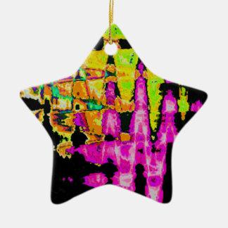 Ornement Étoile En Céramique Beau motif extraordinaire de couleurs d'eau