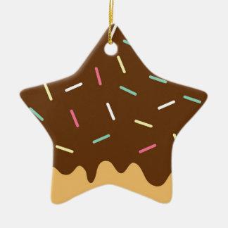 Ornement Étoile En Céramique Beignet de chocolat