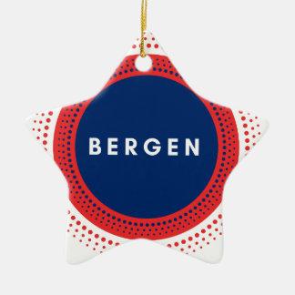 Ornement Étoile En Céramique Bergen Norvège