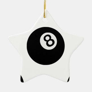 Ornement Étoile En Céramique boule de l'emoji huit