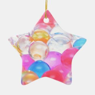 Ornement Étoile En Céramique boules transparentes