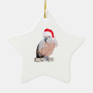 Ornement Étoile En Céramique Cacatoès Père Noël