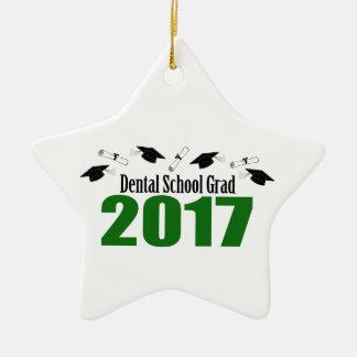 Ornement Étoile En Céramique Casquettes du diplômé 2017 d'école dentaire et