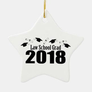 Ornement Étoile En Céramique Casquettes du diplômé 2018 d'école de droit et
