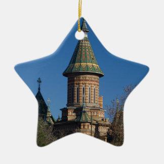 Ornement Étoile En Céramique Cathédrale de Mitropolitan, Timisoara, Roumanie