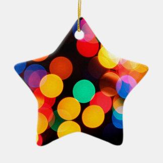 Ornement Étoile En Céramique cercles de couleur