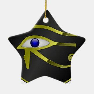 Ornement Étoile En Céramique Chant religieux égyptien d'or de l'Egypte de Ra
