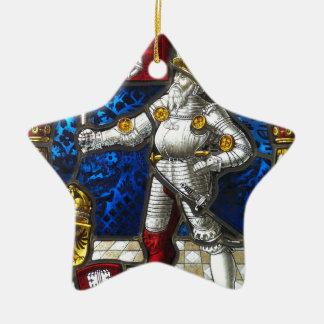 Ornement Étoile En Céramique chevalier #3
