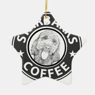 Ornement Étoile En Céramique chien Starbucks